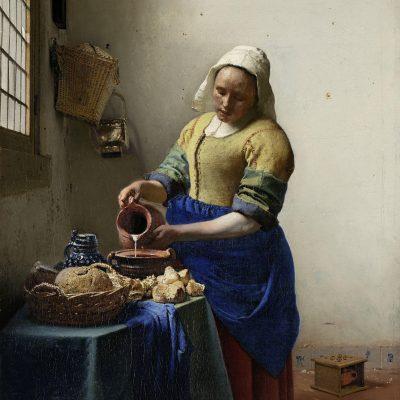 Muur decoratie melkmeisje Vermeer